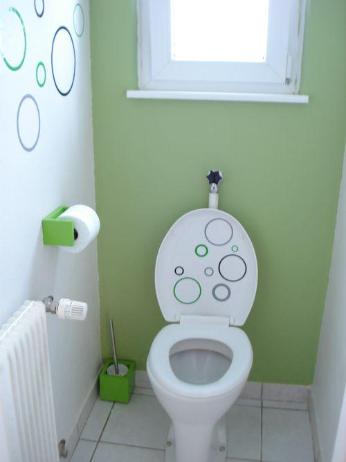 Realisations obosticker d co d 39 int rieur wc - Deco feutrine 26 realisations ...